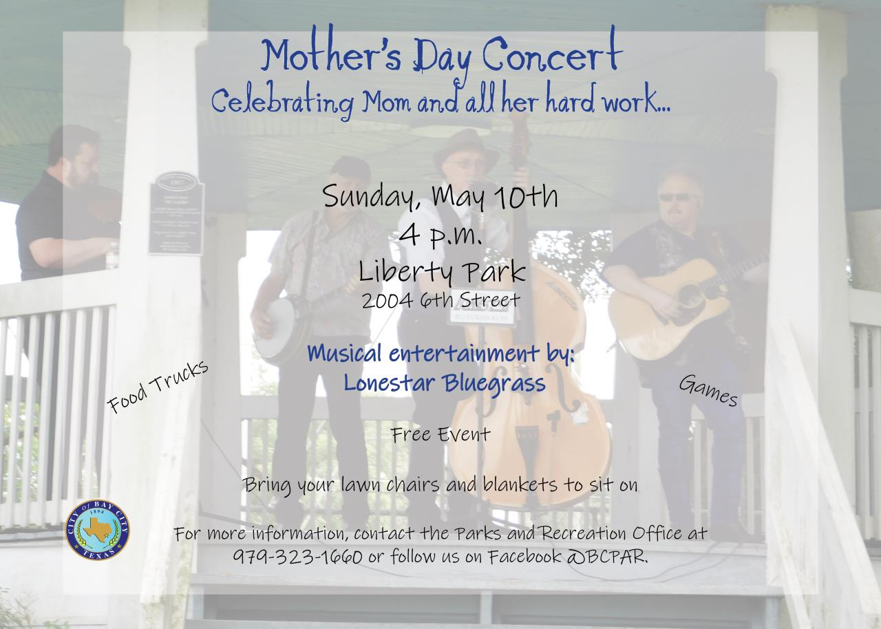 Mothers Day Concert Flyer