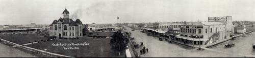 Historical Panorama of Bay City, Texas