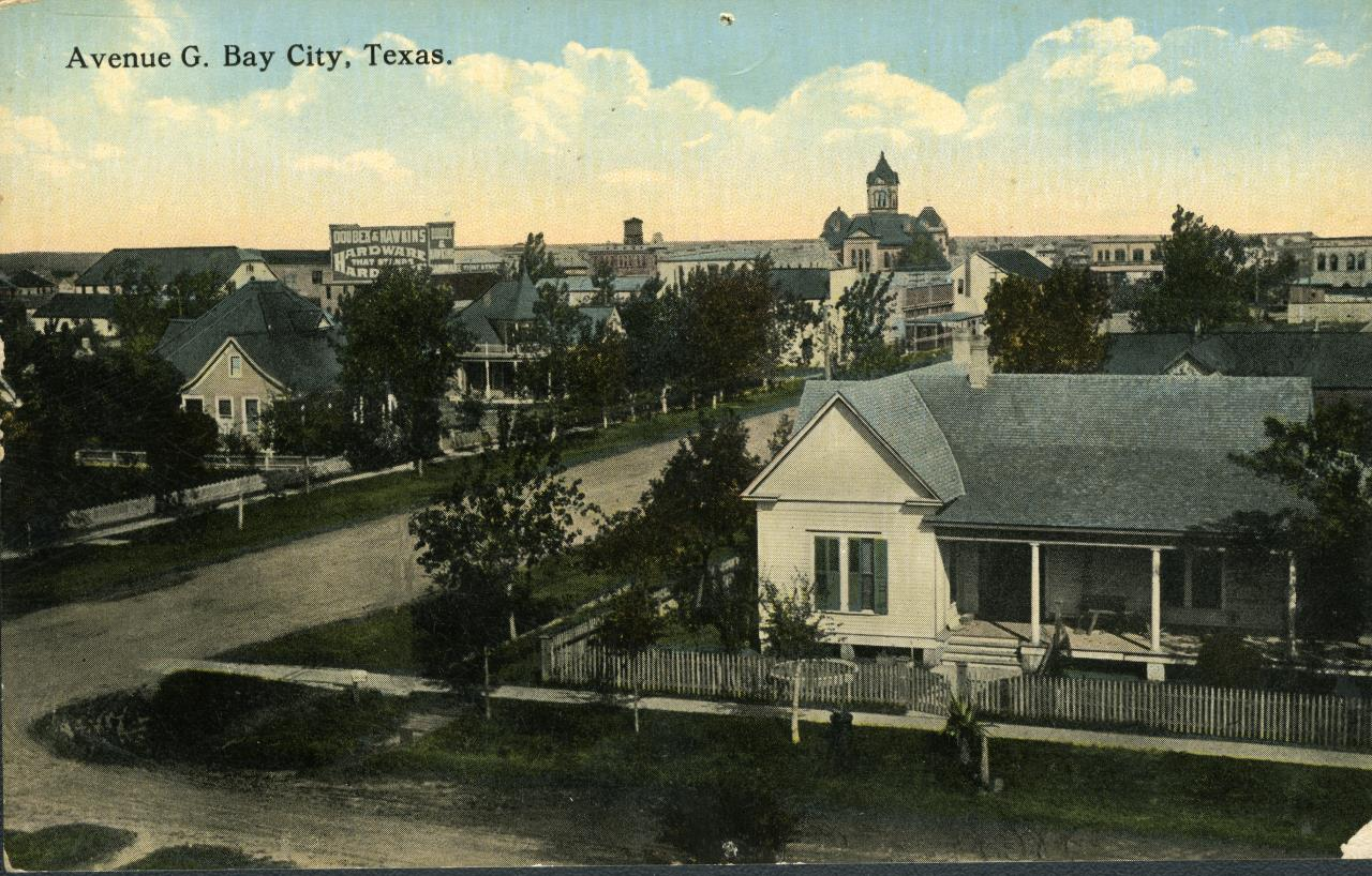 Old Photo of Avenue G, Bay City, Texas