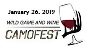 Camofest - Wild Game and Wine - January 26, 2019